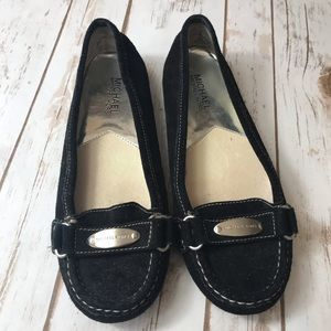 Michael Kors Black Suede Loafers